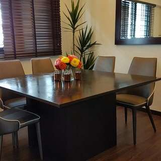 8 Seater Square Wood Dining Table