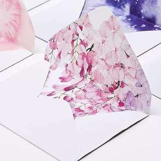 Summer Pink Flower 🌺 Envelope *5