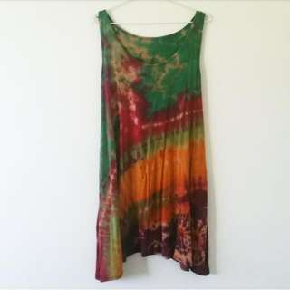 ByronBay Tie-Dye Loose Summer Dress