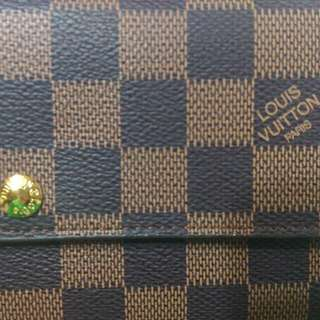 Louis Vuitton 長型錢包 帆布材質 Damier Ebene