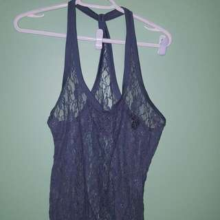 Grey Lace Top Size Large