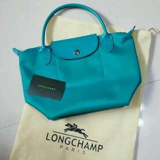 湖水綠 Longchamp 水餃包