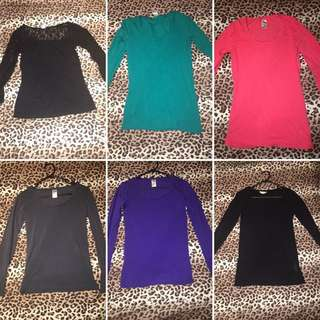 Various Long Sleeve Shirts