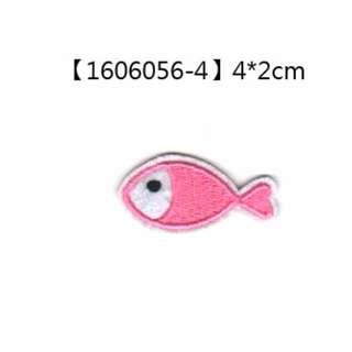 巧裝園【貼布繡】1606056-4-小魚兒(粉)/燙貼 臂章 熨燙徽章 刺繡 電繡