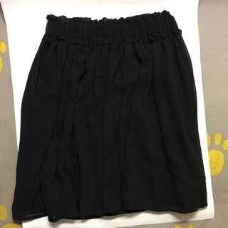 little mini black skirt