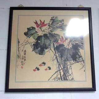Framed Chinese Drawing