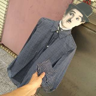 堀江服飾店長袖方糖襯衫