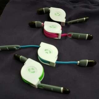 蘋果手機伸縮充電線