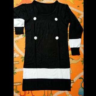 Dress Rajut /Knit Kancing Depan