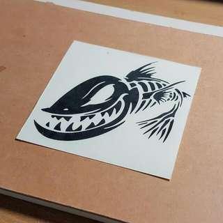 Customised Decal / Sticker/ Fish / Skeleton/ Gloomis Fish Bone