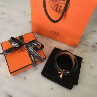 Hermes Kelly Double Tour Bracelet (Sz S)