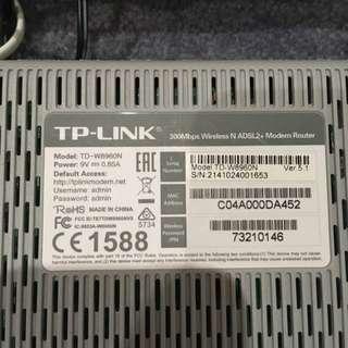 Wireless N ADSL2 + Modem router