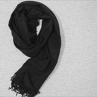 Black Tassel Scarf