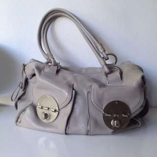 MIMCO Large Turnlock Grey Handbag