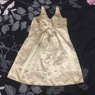 Gold Silky Dress