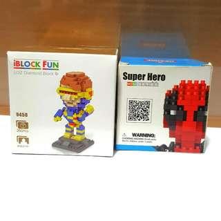 Mini Lego Blocks Deadpool & Cyclops
