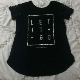 Geeight Let It Go Black T-shirt