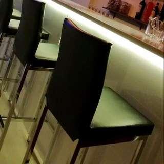 全新 皮質吧台椅 吧檯椅 高吧椅 咖啡椅 PUB夜 店 餐椅