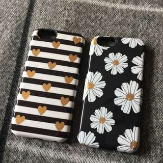 Black White & Gold iPhone 6S Cases