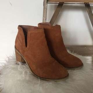 Urban Outfitters Suede Cut Out Boots