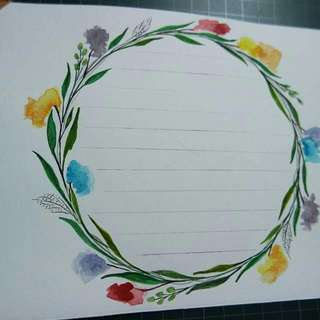 WATERCOLOR WREATH WITH CUSTOMIZED MESSAGE