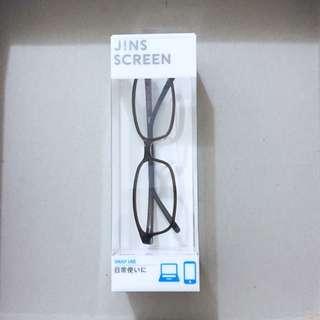 日本 JINS  深咖啡色無度數鏡框👓
