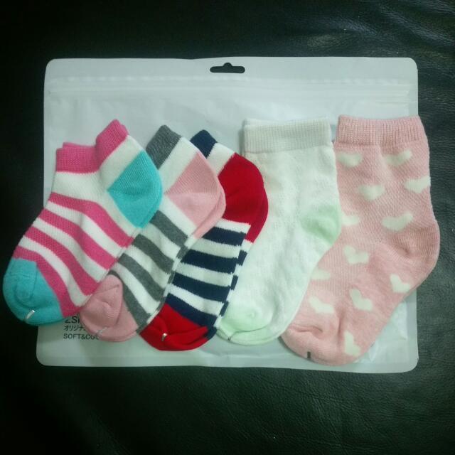 全新4-6歲網眼短襪,船型襪(5入)