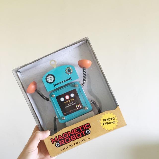 吸鐵大相框 藍綠機器人