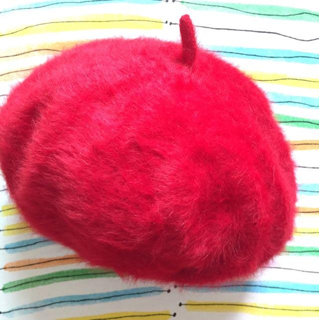 全新 經典貝雷帽 紅色
