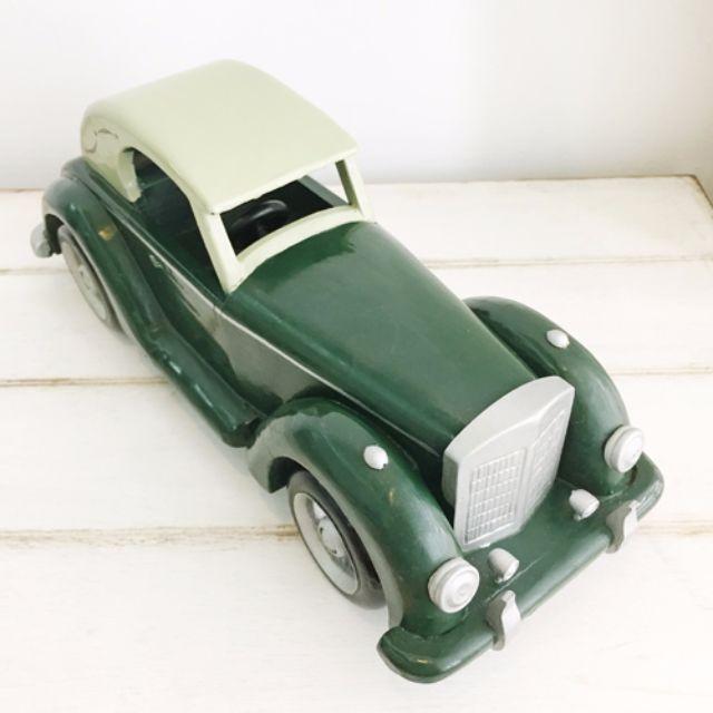 手繪經典木製骨董車模型 [似Bentley車款]。外銷歐洲款絕版商品