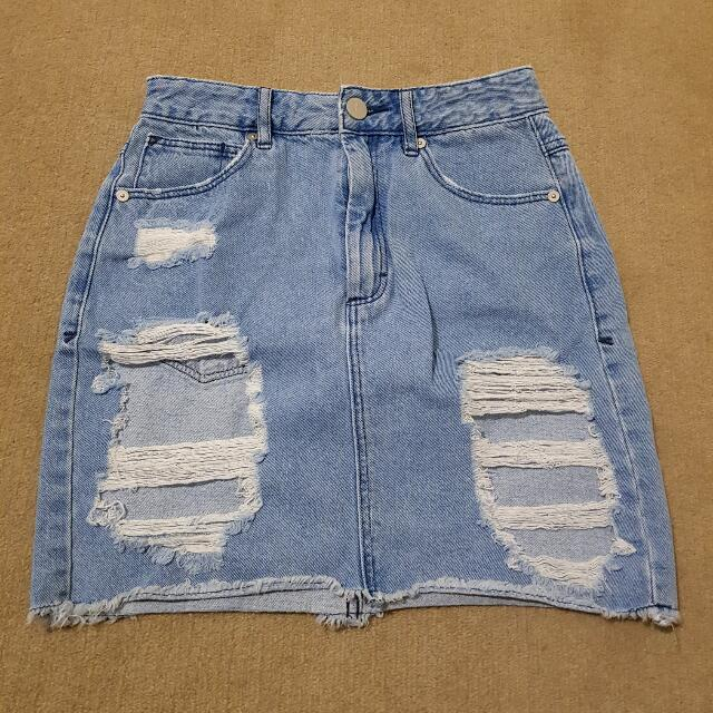 Abrand Jeans Ripped Skirt