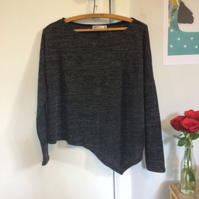 Angled Light Knit Sweater
