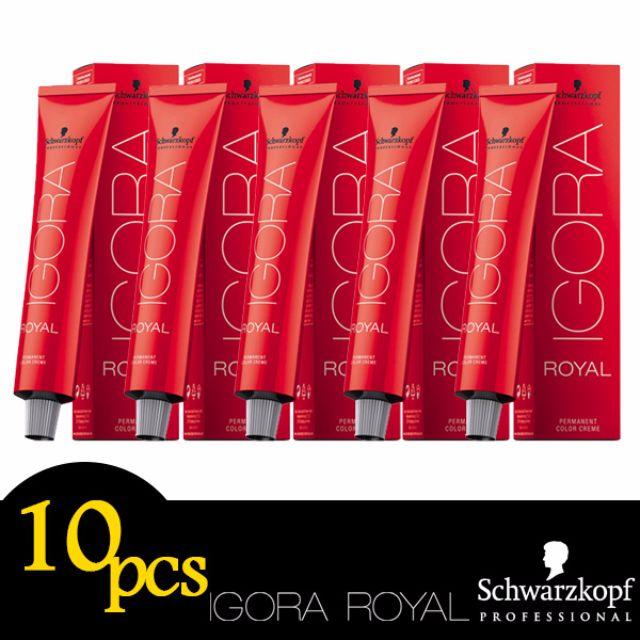 Any 10pcs Schwarzkopf Professional IGORA ROYAL Permanent Colour Hair Dye 60ml