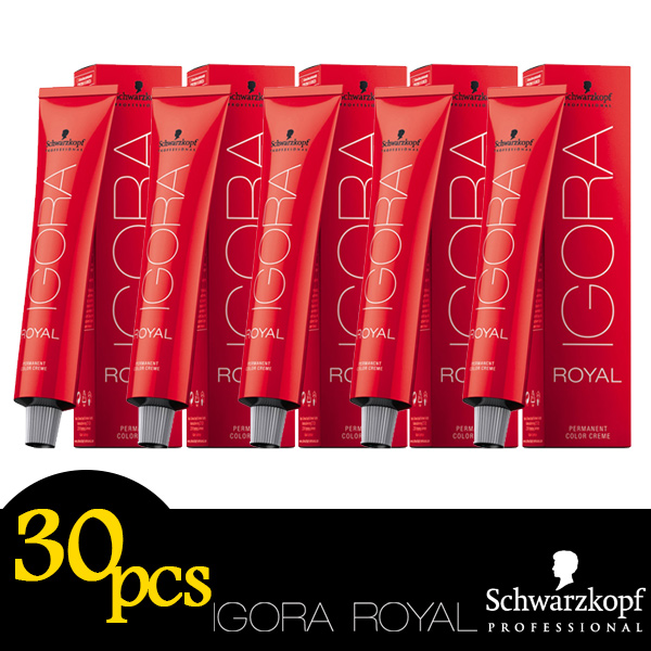 Any 30pcs Schwarzkopf Professional IGORA ROYAL Permanent Colour Hair Dye 60ml