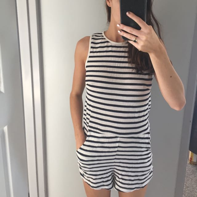 Assembly The Label Stripe Playsuit