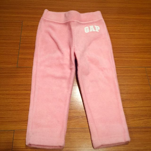 九成新以上❤️baby Gap 粉色刷絨長褲 2Y