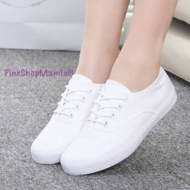 Basic White Canvas Sneakers