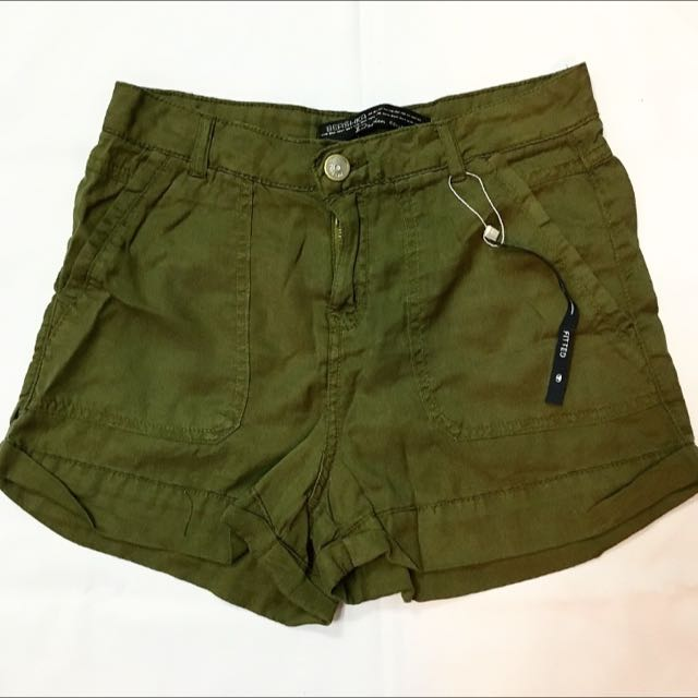 Bershka Army Shorts
