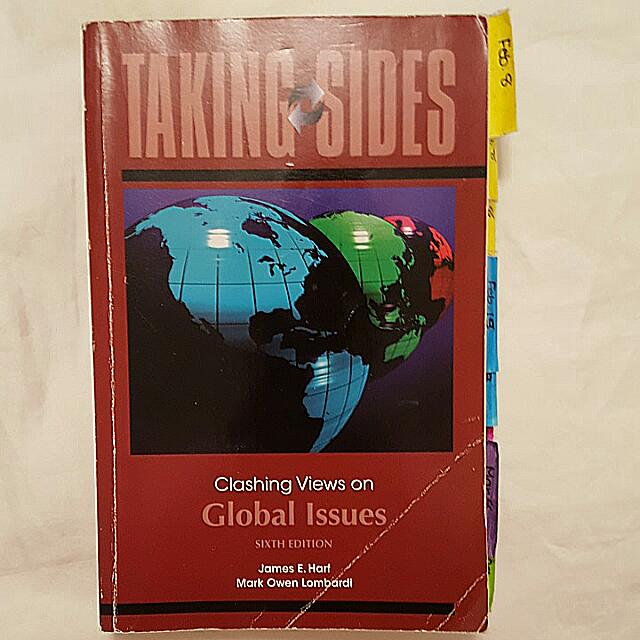 Book - Taking Sides: Clashing Views On Global Issues. Sixth Edition. By: James E. Harf And Mark Owen Lombardi 2010