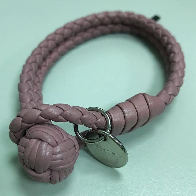 保證正品Bottega Veneta BV 紫雙圈手環 size S