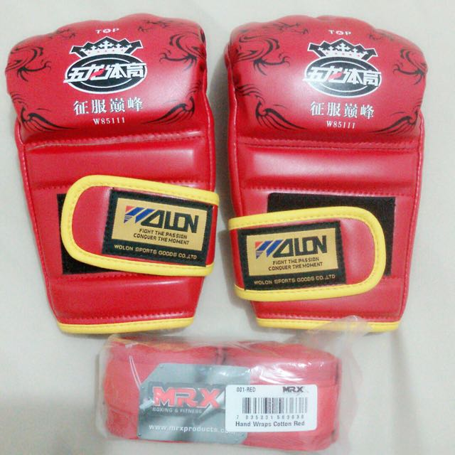 Boxing Gloves Free Handwrap