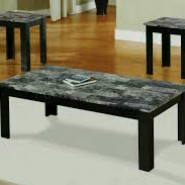 Brand New Marble Coffee Table And End Tables (2)