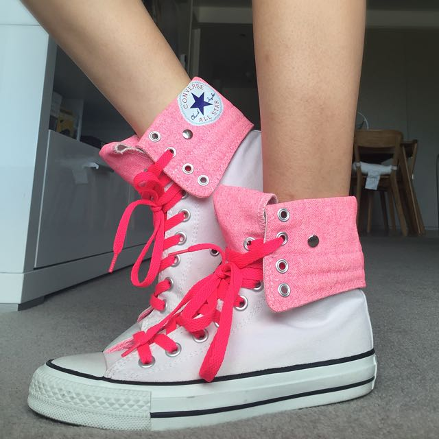 Chuck Taylor All Star High Top Pink&White