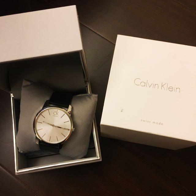 CK黑錶帶手錶