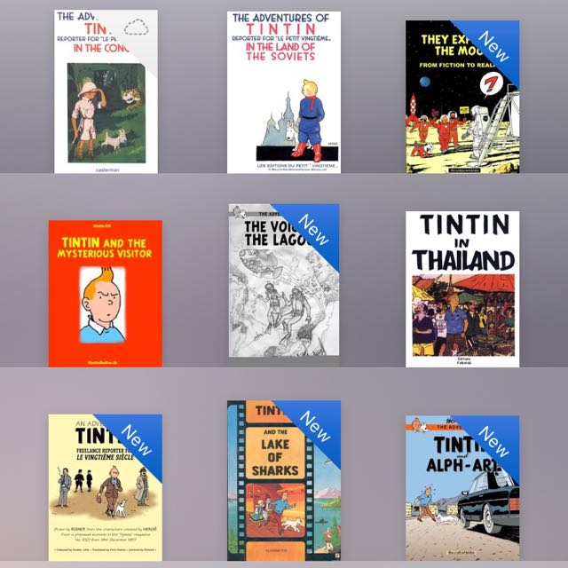Complete Collection of The Adventures of Tintin Ebooks!