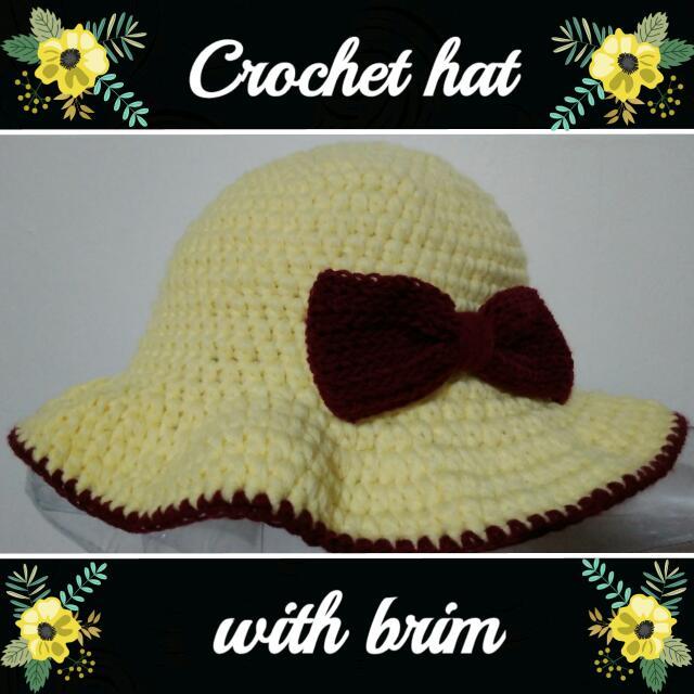 Crochet Summer Hat With Brim