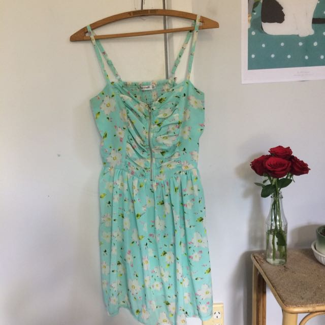 Floral Baby Blue Summery Dress
