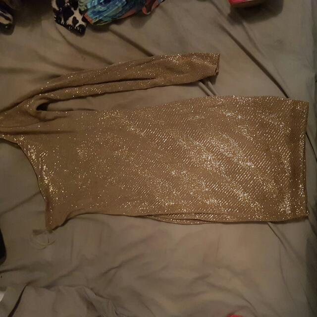 Guess By Marciano Gold Dress