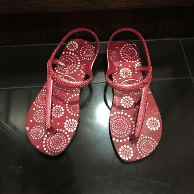 Havaianas 紅色拖鞋涼鞋