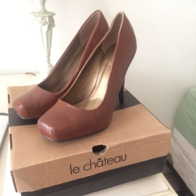 Le Chateau Brown Stiletto Heels